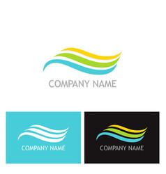 wave beauty flow company logo vector image