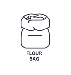 flour bag line icon outline sign linear symbol vector image