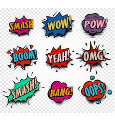 Isolated abstract colorful comics speech balloons vector