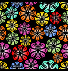 rainbow uneven distributed abstract flower shapes vector image vector image