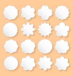 Set of White Paper Floral Frames on a Beige vector image