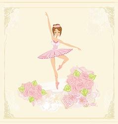 Beautiful ballerina - abstract card vector image vector image