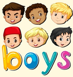 Boys with happy face vector image