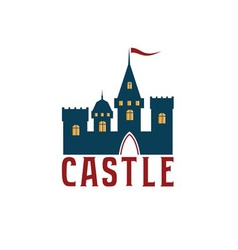 Castle abstract design template vector image