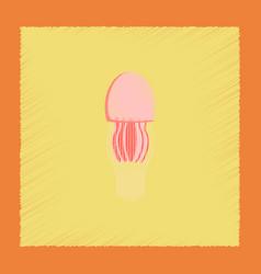 flat shading style biology jellyfish vector image