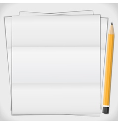 Paper with pencil vector image vector image