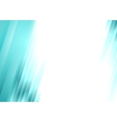 Turquoise blurred stripes bright corporate vector image vector image