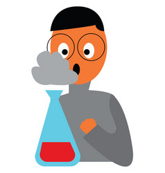 a chemist astonished with experiment results vector image