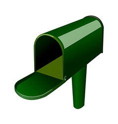 A mail box stand on vector