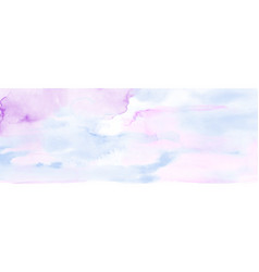 Abstract light pink and blue watercolor vector