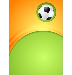 Abstract waves football sport background vector