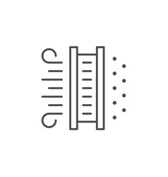 Air filtration line outline icon vector