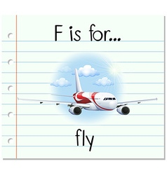 Alphabet F is for fly vector