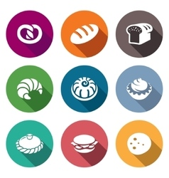 Bakery and fast food Icons Set vector image
