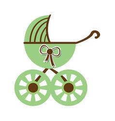 Bbaby stroller icon vector