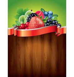 Berries vertical background vector