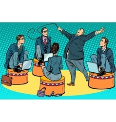 Boss businessmen trainer at the circus vector image