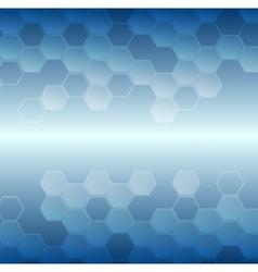 Bright blue tech geometric background vector image
