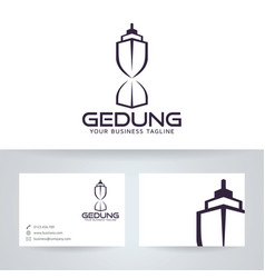Building logo design vector