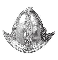 Cabaset peaked helmet engraving vector