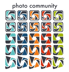 Camera objective shutter icon vector image vector image