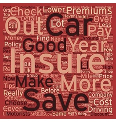 Car insurance top tips text background wordcloud vector