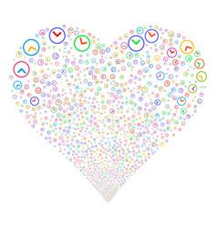 clock fireworks heart vector image