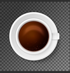 Close up of coffee cup vector