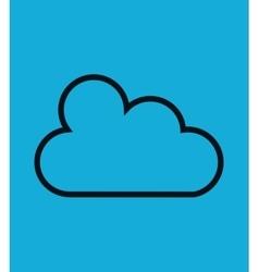 Cloud computing flat icon vector