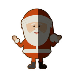 colorful silhouette of smiling santa claus and vector image