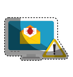 Computer with computing alert vector