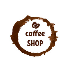 creative logo for coffee shop with printed vector image