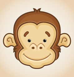 Cute Monkey Face vector image