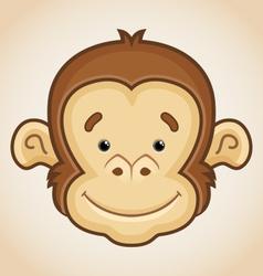 Cute Monkey Face vector image