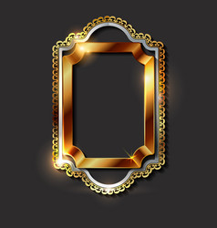 decorative vintage golden frames and borders vector image