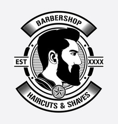 design barber shop logo vector image