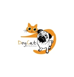Dog Cat logo vector