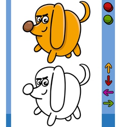dog game character cartoon vector image