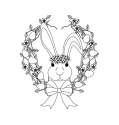 easter bunny outline vector image