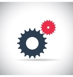 Flat Gear Icon Cooperation and Teamwork Concept vector
