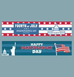 fourth july independence day patriotic posters vector image