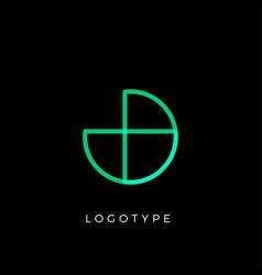 geometric shape letter j line monogram vector image