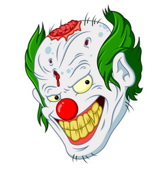 Halloween clown face cartoon vector