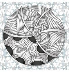 Hand-drawn doodles zentangle pattern vector image
