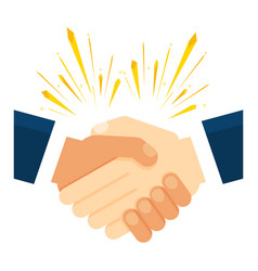 Handshake of business partners vector