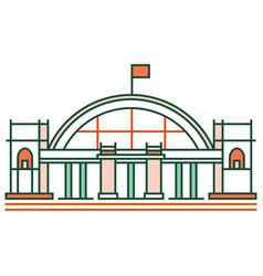 Hua lamphong train station linecolor vector