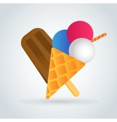 Ice cream icons set vector