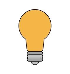 Isolated light bulb design vector