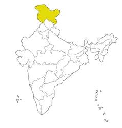 Jammu and kashmir vector