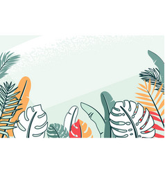 jungle plant with tropical vector image